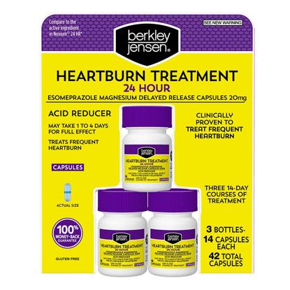 Picture of Berkley Jensen Esomeprazole Heartburn Treatment 3 pk