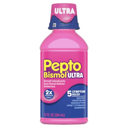 Picture of Pepto Bismol Ultra 5 Symptom Stomach Relief Liquid Original 12 oz