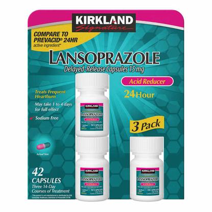 Picture of Kirkland Signature Lansoprazole 15 mg Acid Reducer 42 Capsules