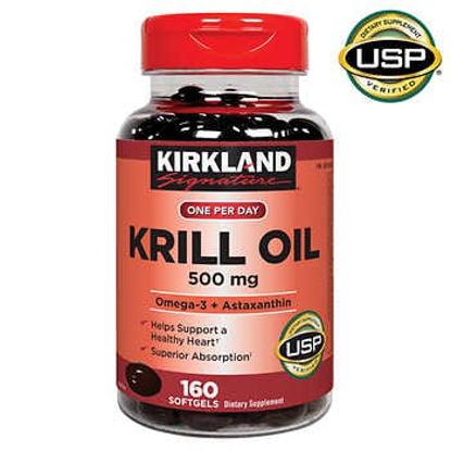 Picture of Kirkland Signature Krill Oil 500 mg 160 Softgels