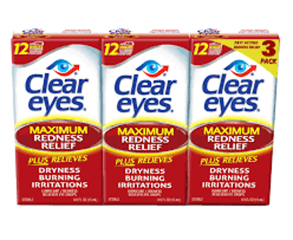 Picture of Prestige Clear Eyes Redness Reliever Eye Drops 3 pk. 45 mL