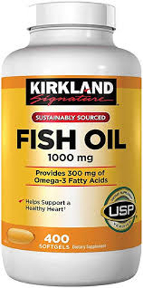 Picture of Kirkland Signature Fish Oil 1000 mg 400 Soft gels