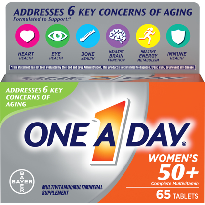 Picture of One A Day Women's 50+ Multivitamin Tablets Multivitamins for Women 65 Ct
