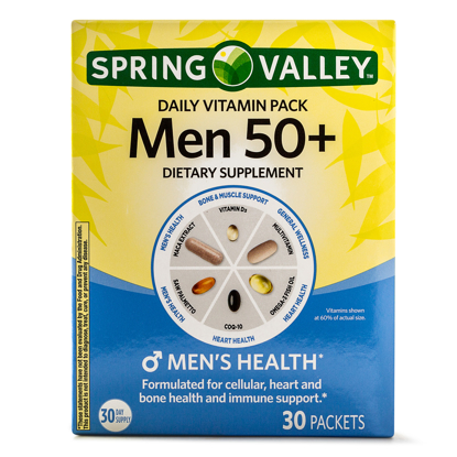 Picture of Spring Valley Men 50+ Daily Vitamin & Mineral Supplement Packs 30 Packets