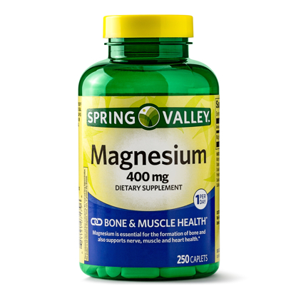Picture of Spring Valley Magnesium Dietary Supplement Caplets 400 mg 250 Count
