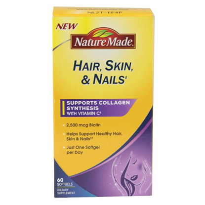Picture of Nature Made Hair Skin Nails With Biotin Softgel 2500 Mg 60 Ct