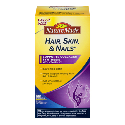 Picture of NATURE MADE Hair Skin Nails 2500 mcg Biotin Softgels 1200 CT