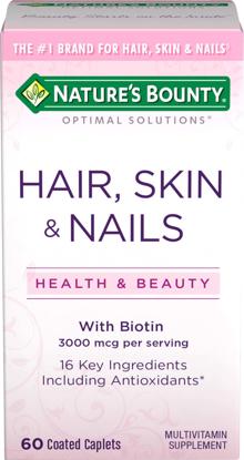 Nature's Bounty® Optimal Solutions Hair Skin & Nails Formula 60 Tablets