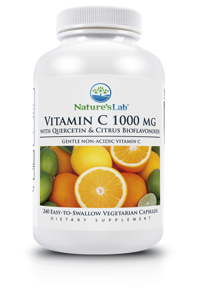 Nature's Lab Vitamin C 1000 mg 240 Vegetarian Capsules