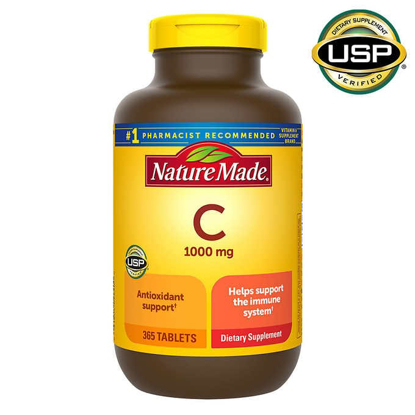 Nature Made Vitamin C 1000 mg 365 Tablets