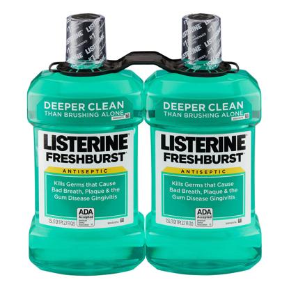 Listerine Freshburst Antiseptic Mouthwash 1.5L 2 pk