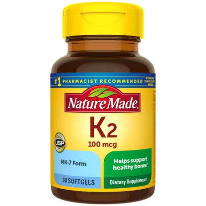 Nature Made Vitamin K2 100 mg Softgel 30 Count for Bone Health