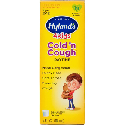 Hyland's 4 Kids Cold 'n Cough Relief Liquid Natural Relief of Common Cold Symptoms 4 Ounces