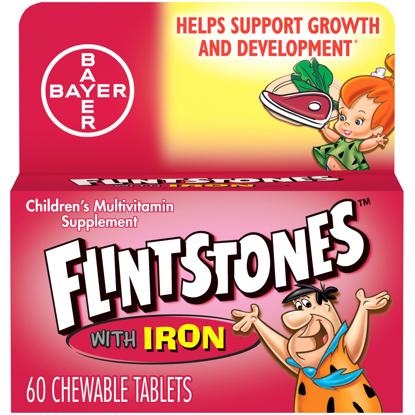 Flintstones Chewable Kids Vitamins w Iron Multivitamin for Kids 60 Ct