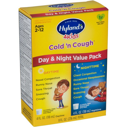 Hyland's 4 Kids Cold 'n Cough Day and Night Value Pack Natural Relief of Common Cold Symptoms 8 Ounces