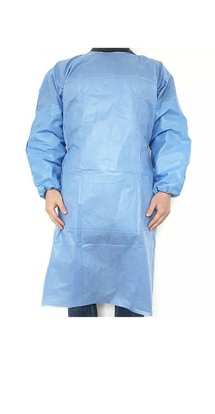 Gowns Disposable Surgical Isolation Medical Protective Clothing Non-woven with Elastic Cuff 1 Count