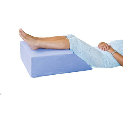 """Essential Medical Supply Elevating Leg Support 20""""x 26"""" x 8"""" Blue Cotton Poly Cover"""