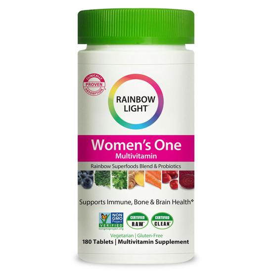 Picture of Rainbow Light Women's One Multivitamin Supplement Netcount (180 Tablets)