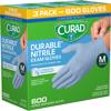 Picture of Curad Durable Nitrile Exam Gloves, Medium, 600 ct