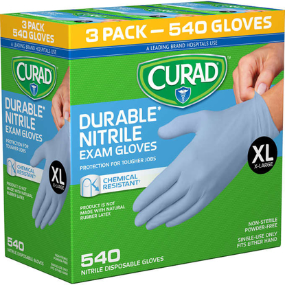 Picture of Curad Durable Nitrile Exam Gloves  Extra Large  600ct
