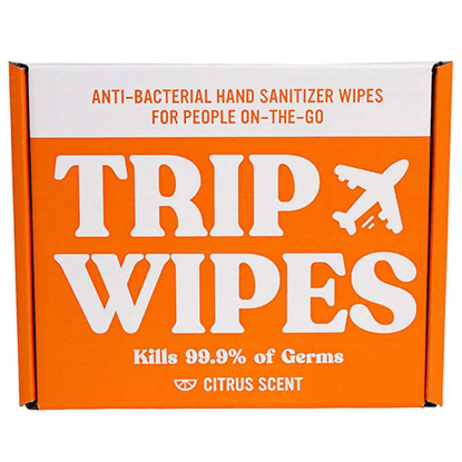 Trip Wipes Hand Sanitizing Wipes, Citrus, 100-count