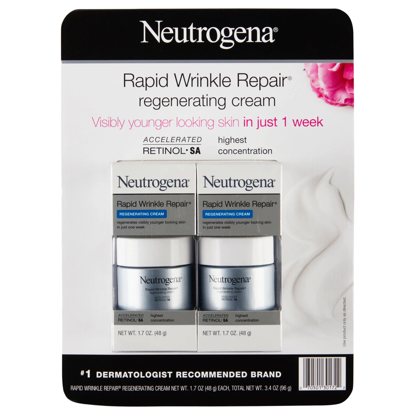 Neutrogena Rapid Wrinkle Repair Regenerating Cream 1.7 oz 2 pk