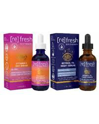 Refresh Skin Vitamin C Day and Retinol Night Serum Duo Pack 1 fl. oz. 2 pk.