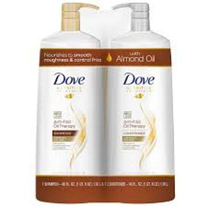Dove Anti-Frizz Oil Therapy Shampoo & Conditioner 40 fl. oz. 2 pk.