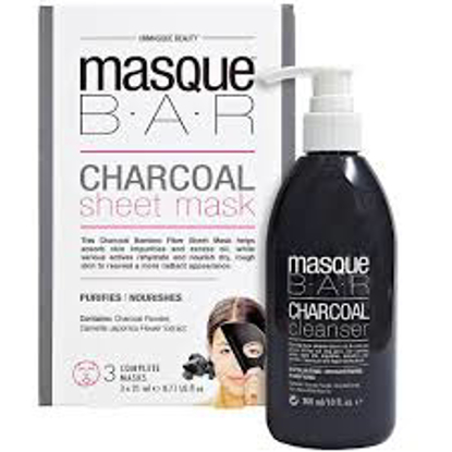 Masque Bar Charcoal Cleanser and Sheet Mask Set