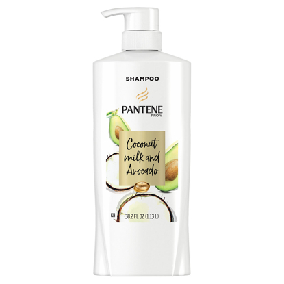 Pantene Pro-V Paraben Free, Dye Free, Mineral Oil Free Coconut Milk and Avocado Moisturizing Shampoo for Dry Hair  38.2 fl. oz.