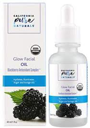 California Pure Naturals USDA Organic Glow Facial Oil, 1.0 fl oz, 2-pack