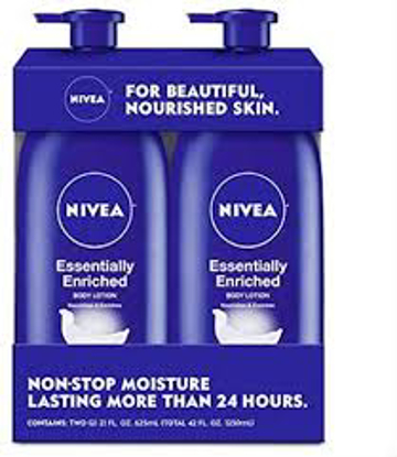 NIVEA Essentially Enriched Lotion, 2 pk.21 oz.