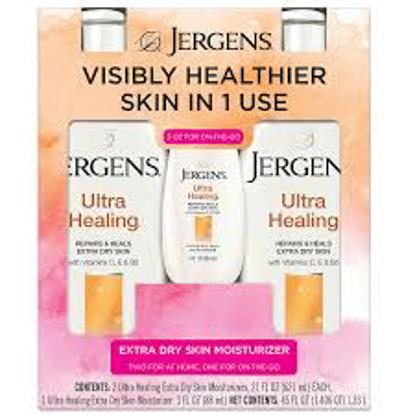 Jergens Ultra Healing Extra Dry Skin Moisturizers 2 - 21 fl. oz. & 1 - 3 oz.