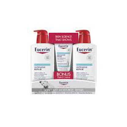 Eucerin Intensive Repair Body Lotion 21 fl. oz. 2 pk. + Advanced Repair Hand Creme 2.7 oz.