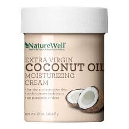 NatureWell Extra-Virgin Coconut Oil Moisturizing Cream 16 oz.
