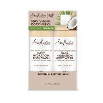 Shea Moisture 100% Virgin Coconut Oil Body Wash, Daily Hydration 19.8 fl. oz. 2 pk.