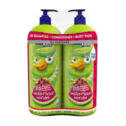 Suave for Kids 3-in-1 Watermelon Wonder 2 ct.