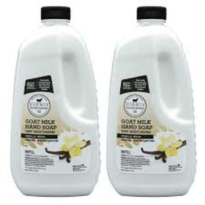 DIONIS Goat Milk Vanilla Bean Hand Soap Refill, 48 fl oz 2 pack