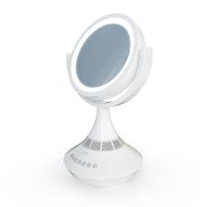 "Atomi 9"" LED Vanity Mirror + Speaker"