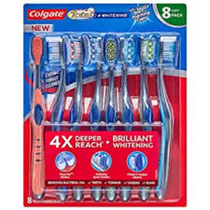 Colgate Total  Whitening Toothbrush, Choose Soft or Medium 8 pk.