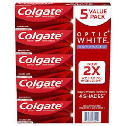 Colgate Optic White Advanced Teeth Whitening Toothpaste, Sparkling White 4.2 oz. 5 pk.