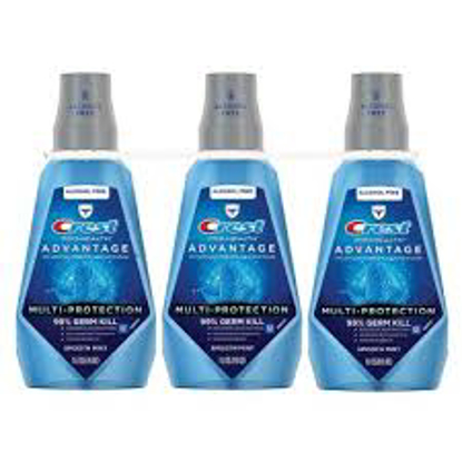 Crest ProHealth Advantage Rinse, Smooth Mint 33.8 fl. oz. 3 pk.