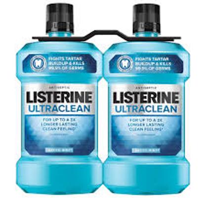 Listerine Ultraclean Arctic Mint Antiseptic Mouthwash 1.5L 2pk.