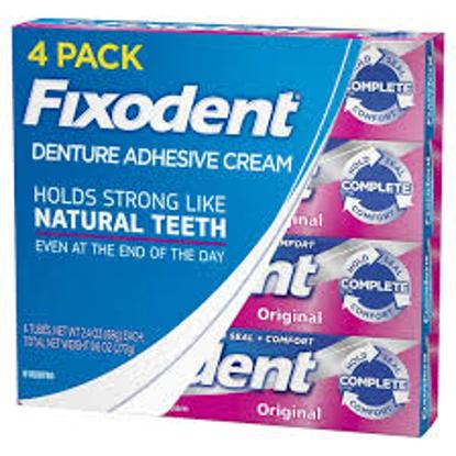 Fixodent Complete Original Denture Adhesive Cream 2.4 oz. 4 pk.