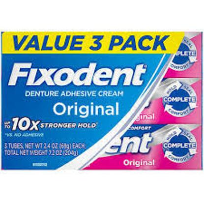 Fixodent Complete Original Denture Adhesive Cream 2.4 fl. oz. 3 pk.