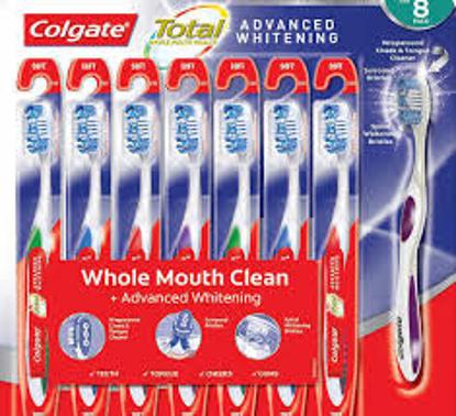 Colgate Total Advanced Whitening Toothbrush 8 pack