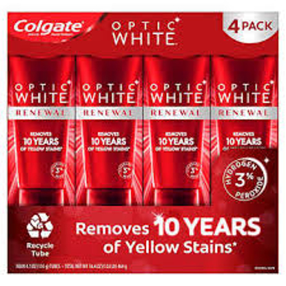 Colgate Optic White Renewal Toothpaste 4.1 oz 4 pack