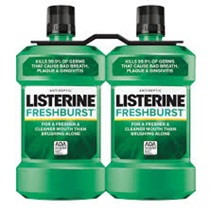 Freshburst Listerine Antiseptic Mouthwash for Bad Breath 2 pk 1.5L