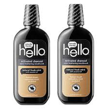 Hello Activated Charcoal Extra Freshening Mouthwash 2 ct.