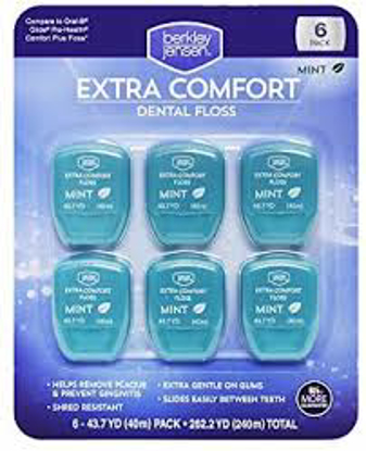 Berkley Jensen Extra Comfort Dental Floss 6 pk.